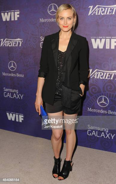 Actress Taylor Schilling arrives at Variety And Women In Film Annual PreEmmy Celebration at Gracias Madre on August 23 2014 in West Hollywood...