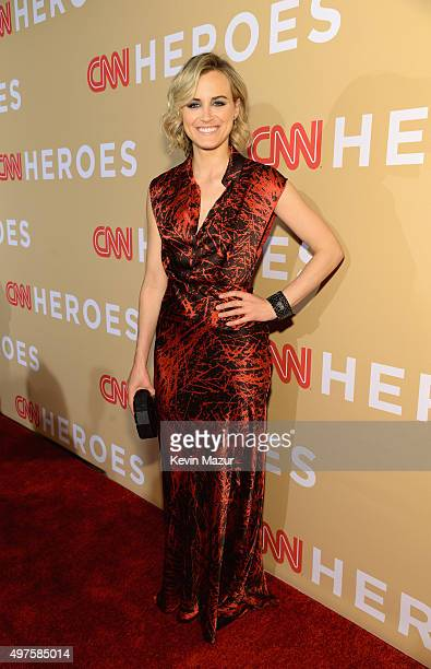 Actress Taylor Schilling attends CNN Heroes 2015 Red Carpet Arrivals at American Museum of Natural History on November 17 2015 in New York City...