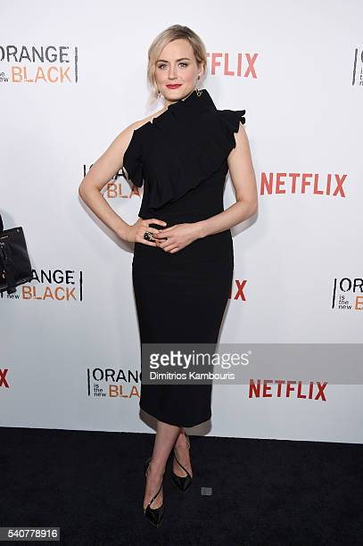Actress Taylor Schilling attends 'Orange Is The New Black' premiere at SVA Theater on June 16 2016 in New York City