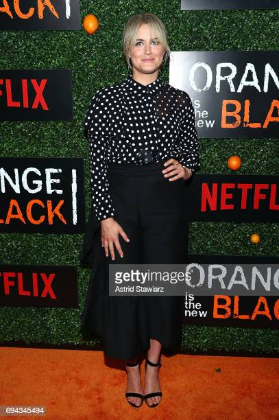 Actress Taylor Schilling attends 'Orange Is The New Black' season 5 celebration at Catch on June 9 2017 in New York City