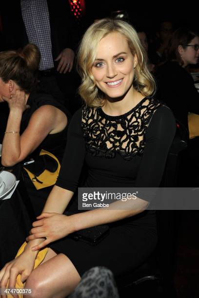 Actress Taylor Schilling attends the 2014 Vinyard Theatre gala at The Edison Ballroom on February 24 2014 in New York City