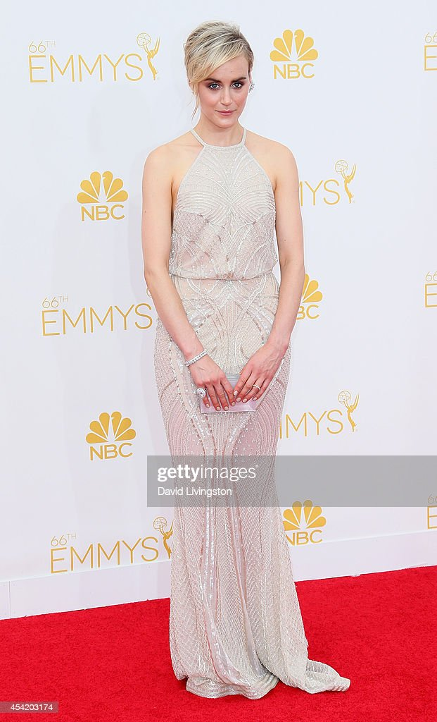 Actress <a gi-track='captionPersonalityLinkClicked' href=/galleries/search?phrase=Taylor+Schilling&family=editorial&specificpeople=5852086 ng-click='$event.stopPropagation()'>Taylor Schilling</a> attends the 66th Annual Primetime Emmy Awards at the Nokia Theatre L.A. Live on August 25, 2014 in Los Angeles, California.