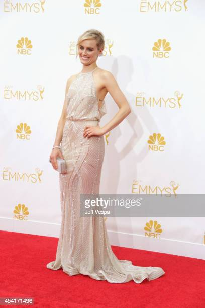 Actress Taylor Schilling attends the 66th Annual Primetime Emmy Awards held at Nokia Theatre LA Live on August 25 2014 in Los Angeles California