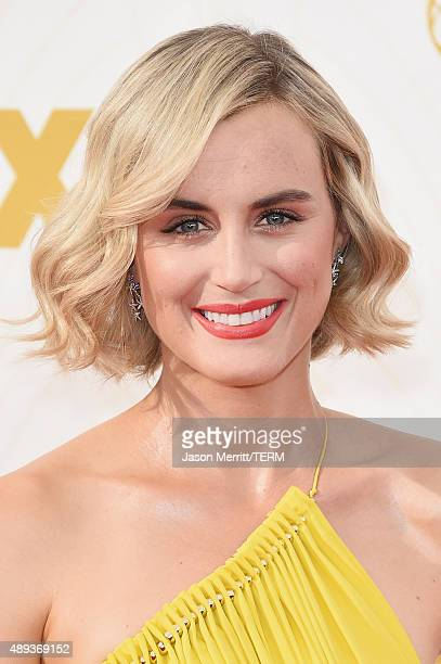 Actress Taylor Schilling attends the 67th Annual Primetime Emmy Awards at Microsoft Theater on September 20 2015 in Los Angeles California