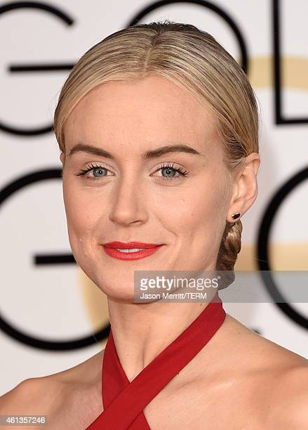 Actress Taylor Schilling attends the 72nd Annual Golden Globe Awards at The Beverly Hilton Hotel on January 11 2015 in Beverly Hills California
