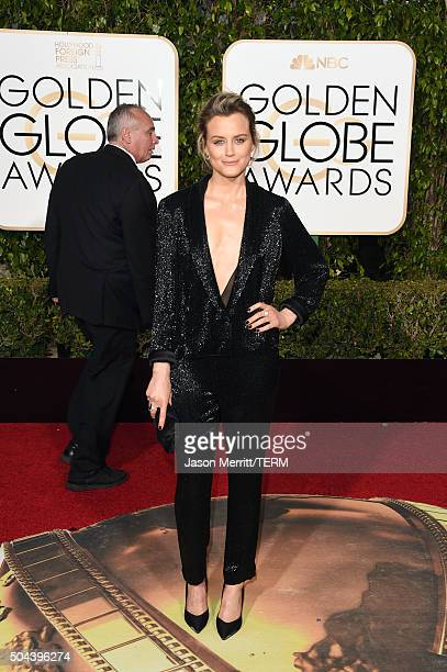 Actress Taylor Schilling attends the 73rd Annual Golden Globe Awards held at the Beverly Hilton Hotel on January 10 2016 in Beverly Hills California