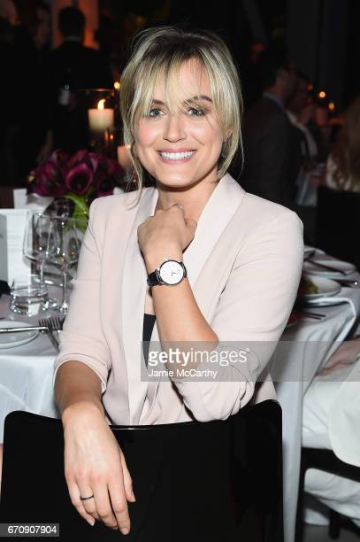 Actress Taylor Schilling attends the exclusive gala event 'For the Love of Cinema' during the Tribeca Film Festival hosted by luxury watch...