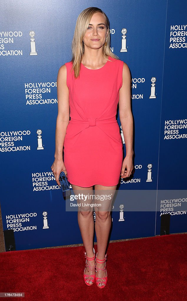 Actress Taylor Schilling attends the Hollywood Foreign Press Association's 2013 Installation Luncheon at The Beverly Hilton Hotel on August 13, 2013 in Beverly Hills, California.