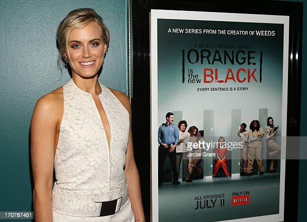 Actress Taylor Schilling attends the Netflix Presents 'Orange Is The New Black' Special Screening at AMC Loews Broadway 4 on June 17 2013 in Santa...