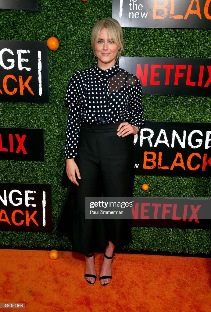 Actress Taylor Schilling attends the 'Orange Is The New Black' Season 5 Celebration at Catch on June 9, 2017 in New York City.