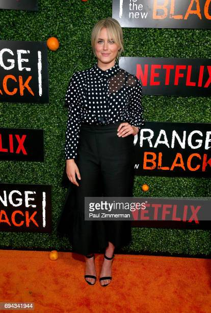 Actress Taylor Schilling attends the 'Orange Is The New Black' Season 5 Celebration at Catch on June 9 2017 in New York City