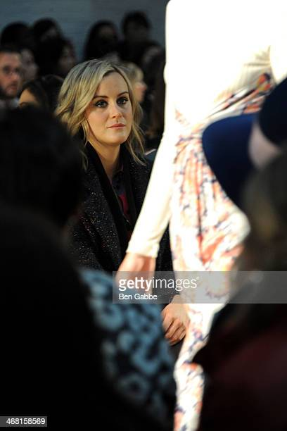 Actress Taylor Schilling attends the Thakoon fashion show during MercedesBenz Fashion Week Fall 2014 on February 9 2014 in New York City