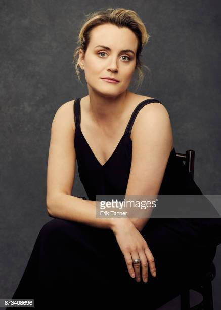 Actress Taylor Schilling from 'Take Me' poses at the 2017 Tribeca Film Festival portrait studio on on April 24 2017 in New York City