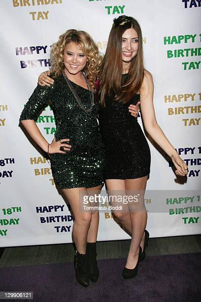 Actress Taylor Spreitler and Shelby Young attend Taylor Spreitler's 18th birthday party held at Crimson on October 21 2011 in Hollywood California