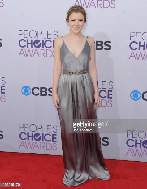 Actress Taylor Spreitler arrives at the 2013 People's Choice Awards at Nokia Theatre LA Live on January 9 2013 in Los Angeles California
