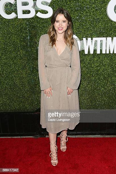 Actress Taylor Spreitler arrives at the CBS CW Showtime Summer TCA Party at the Pacific Design Center on August 10 2016 in West Hollywood California