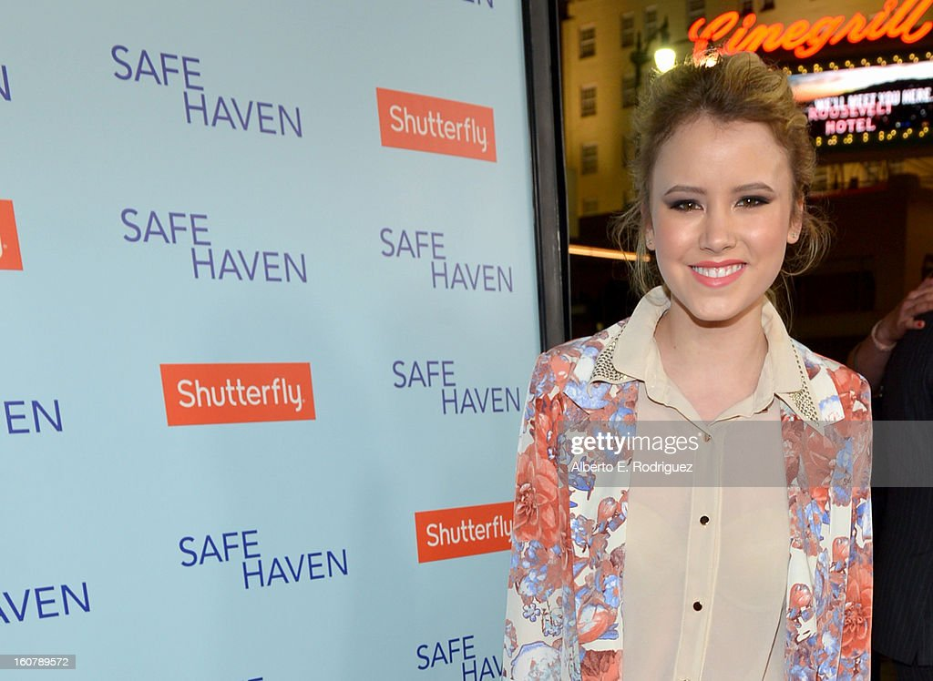 Actress Taylor Spreitler arrives at the premiere of Relativity Media's 'Safe Haven' at TCL Chinese Theatre on February 5 2013 in Hollywood California