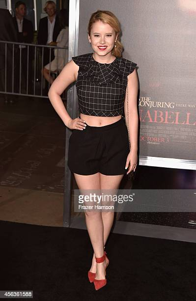 Actress Taylor Spreitler arrives at the screening Of New Line Cinema's 'Annabelle' at TCL Chinese Theatre on September 29 2014 in Hollywood California