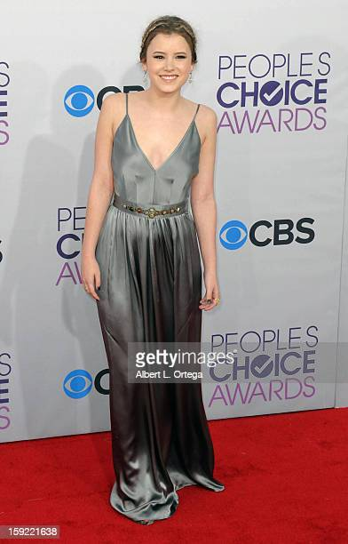 Actress Taylor Spreitler arrives for the 34th Annual People's Choice Awards Arrivals held at Nokia Theater at LA Live on January 9 2013 in Los...