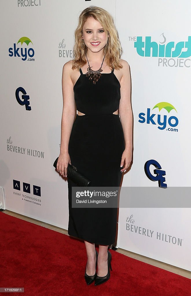 Actress <a gi-track='captionPersonalityLinkClicked' href=/galleries/search?phrase=Taylor+Spreitler&family=editorial&specificpeople=5784396 ng-click='$event.stopPropagation()'>Taylor Spreitler</a> attends the 4th Annual Thirst Gala at The Beverly Hilton Hotel on June 25, 2013 in Beverly Hills, California.