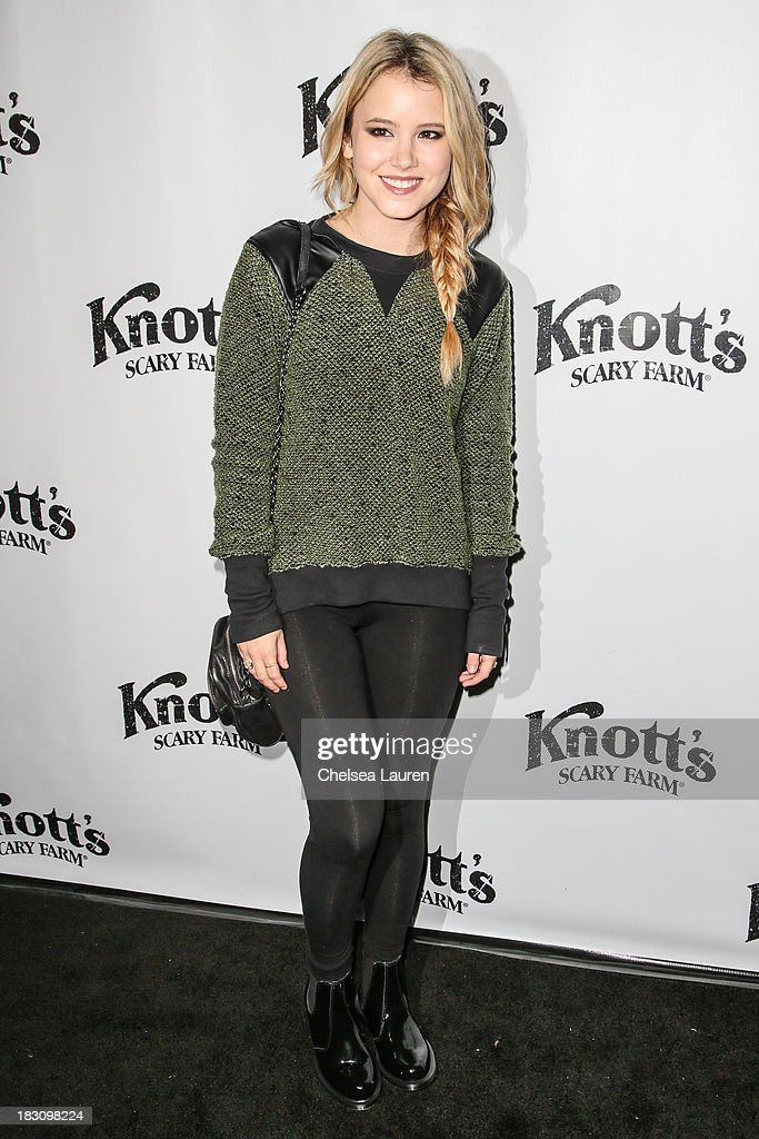 Actress Taylor Spreitler attends the Knott's Scary Farm 'Haunt' VIP Opening Night Party at Knott's Berry Farm on October 3, 2013 in Buena Park, California.