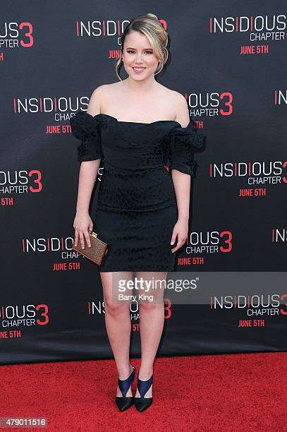 Actress Taylor Spreitler attends the premiere of Focus Features' 'Insidious Chapter 3' at the TCL Chinese Theatre on June 4 2015 in Hollywood...