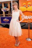 Actress Taylor Swift attends the premiere of Dr Seuss' 'The Lorax' at Universal Studios Hollywood on February 19 2012 in Universal City California