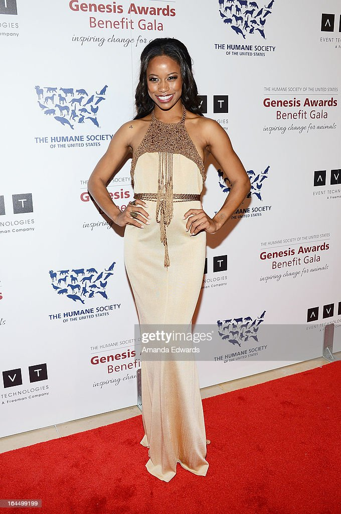 Actress Taylour Paige arrives at The Humane Society's 2013 Genesis Awards Benefit Gala at The Beverly Hilton Hotel on March 23, 2013 in Beverly Hills, California.