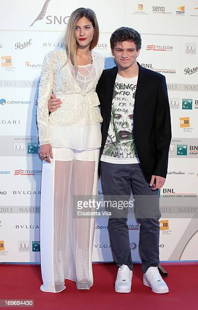 Actress Tea Falco and actor Jacopo Olmo Antinori attend '2013 Nastri d'Argento' Award Nominations at Maxxi Museum on May 30 2013 in Rome Italy