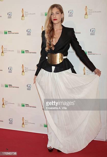 Actress Tea Falco attend the 2013 David di Donatello Ceremony Awards on June 14 2013 in Rome Italy
