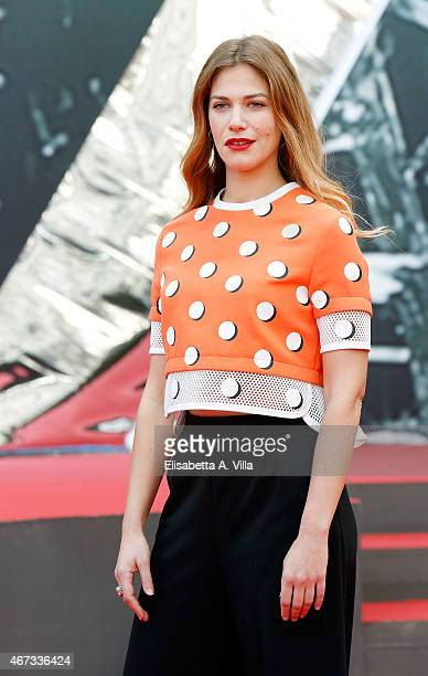 Actress Tea Falco attends '1992' Tv Movie photocall at Cinema Moderno The Space on March 23 2015 in Rome Italy