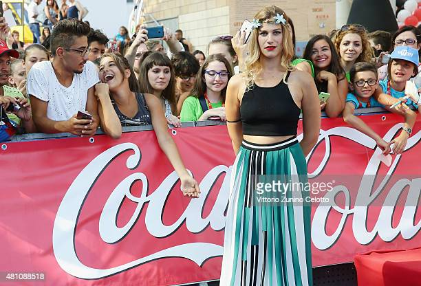 Actress Tea Falco attends Giffoni Film Festival 2015 Blue Carpet on July 17 2015 in Giffoni Valle Piana Italy