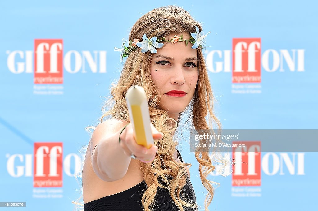 Actress Tea Falco attends Giffoni Film Festival 2015 photocall on July 17, 2015 in Giffoni Valle Piana, Italy.