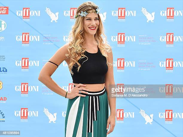 Actress Tea Falco attends Giffoni Film Festival 2015 photocall on July 17 2015 in Giffoni Valle Piana Italy