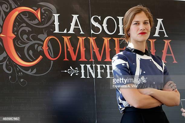 Actress Tea Falco attends 'La Solita Commedia Inferno' photocall at Hotel Bernini Bristol on March 12 2015 in Rome Italy
