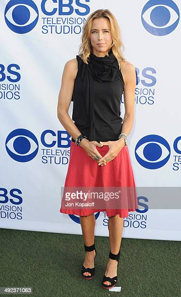 Actress Tea Leoni arrives at the CBS Summer Soiree at The London West Hollywood on May 19 2014 in West Hollywood California