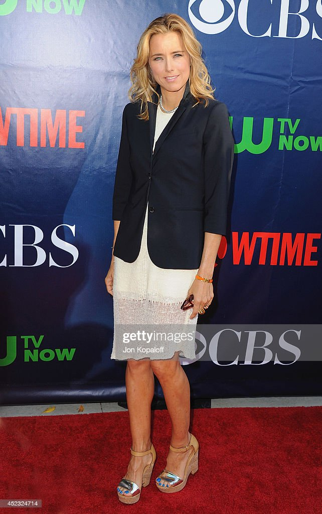 Actress <a gi-track='captionPersonalityLinkClicked' href=/galleries/search?phrase=Tea+Leoni&family=editorial&specificpeople=204720 ng-click='$event.stopPropagation()'>Tea Leoni</a> arrives at the CBS, The CW, Showtime & CBS Television Distribution 2014 Television Critics Association Summer Press Tour at Pacific Design Center on July 17, 2014 in West Hollywood, California.