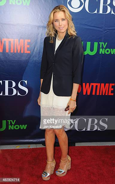 Actress Tea Leoni arrives at the CBS The CW Showtime CBS Television Distribution 2014 Television Critics Association Summer Press Tour at Pacific...