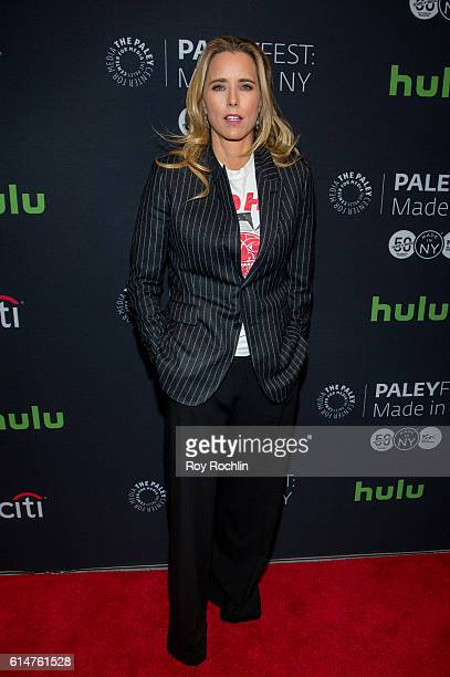 Actress Tea Leoni attends the screening of 'Madam Secretary' during PaleyFest New York 2016 at The Paley Center for Media on October 14 2016 in New...