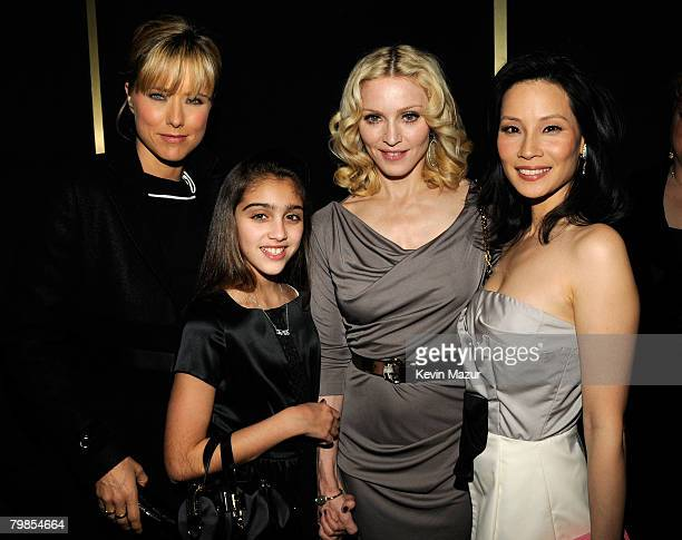 NEW YORK FEBRUARY 06 Actress Tea Leoni Lourdes Leon Madonna and Actress Lucy Liu at the Madonna and Gucci Host 'A Night to Benefit Raising Malawi and...