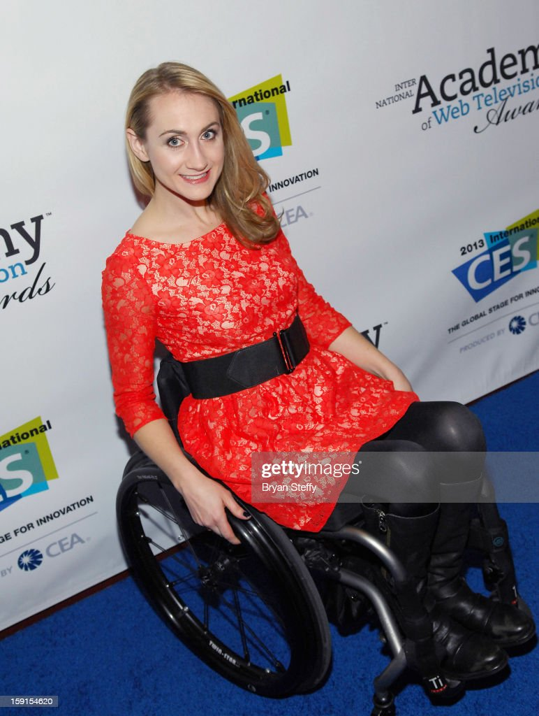 Actress Teal Sherer arrives at the IAWTV Awards at the CES 2013 Show at the Palazzo Theater at the Palazzo Resort Hotel/Casino on January 8, 2013 in Las Vegas, Nevada.