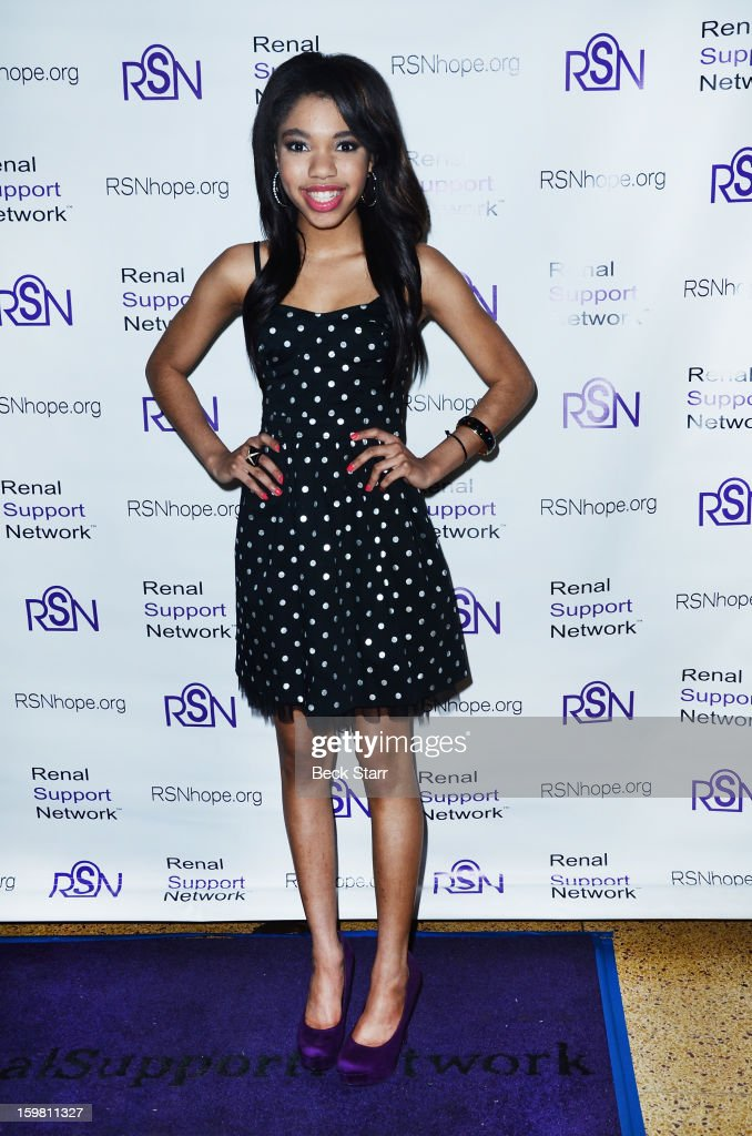 Actress Teala Dunn arrives at 14th Annual RSN's Renal Teen Prom at Notre Dame High School on January 20, 2013 in Sherman Oaks, California.