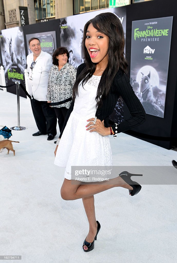 Actress Teala Dunn arrives at Disney's 'Frankenweenie' premiere at the El Capitan Theatre on September 24, 2012 in Hollywood, California.