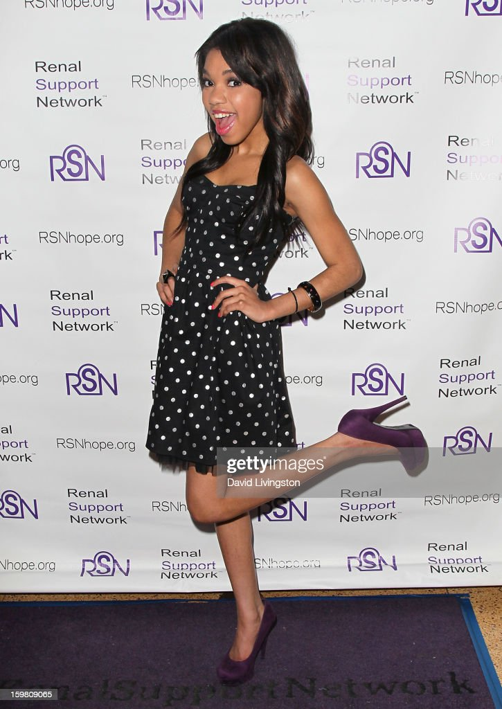 Actress Teala Dunn attends the 14th Annual RSN's Renal Teen Prom at Notre Dame High School on January 20, 2013 in Sherman Oaks, California.