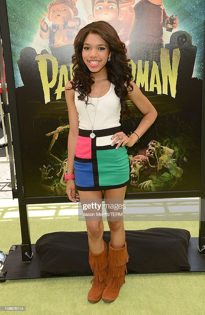 Actress Teala Dunn attends the premiere of Focus Features' 'ParaNorman' held at Universal CityWalk on August 5, 2012 in Universal City, California.