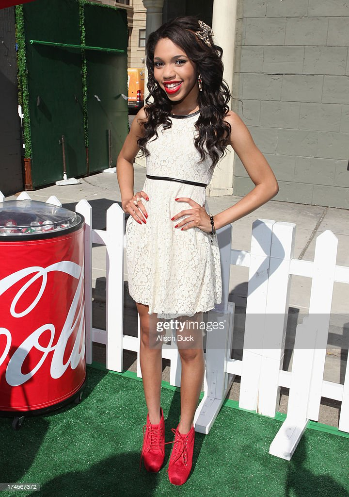 Actress <a gi-track='captionPersonalityLinkClicked' href=/galleries/search?phrase=Teala+Dunn&family=editorial&specificpeople=7399540 ng-click='$event.stopPropagation()'>Teala Dunn</a> attends Variety's Power of Youth presented by Hasbro, Inc. and generationOn at Universal Studios Backlot on July 27, 2013 in Universal City, California.