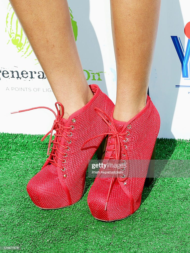Actress Teala Dunn (shoe detail) attends Variety's Power of Youth presented by Hasbro, Inc. and generationOn at Universal Studios Backlot on July 27, 2013 in Universal City, California.