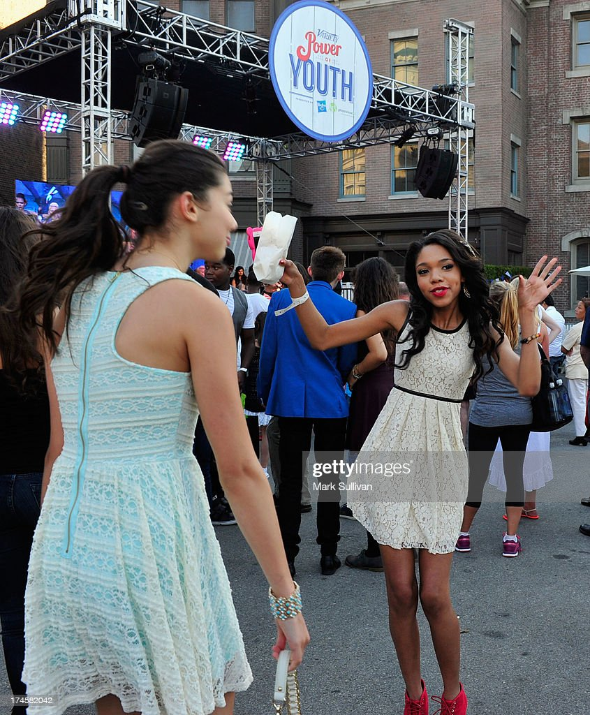 Actress Teala Dunn attends Variety's Power of Youth presented by Hasbro, Inc. and generationOn at Universal Studios Backlot on July 27, 2013 in Universal City, California.