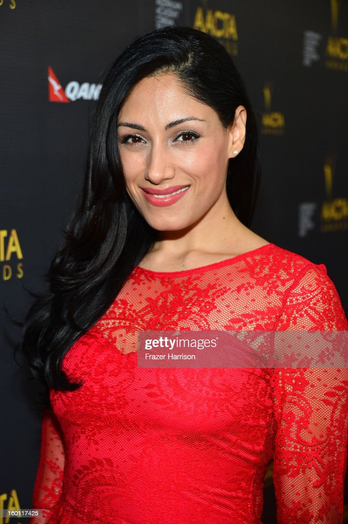 Actress Tehmina Sunny arrives at the 2ND AACTA International Awards at Soho House on January 26, 2013 in West Hollywood, California.