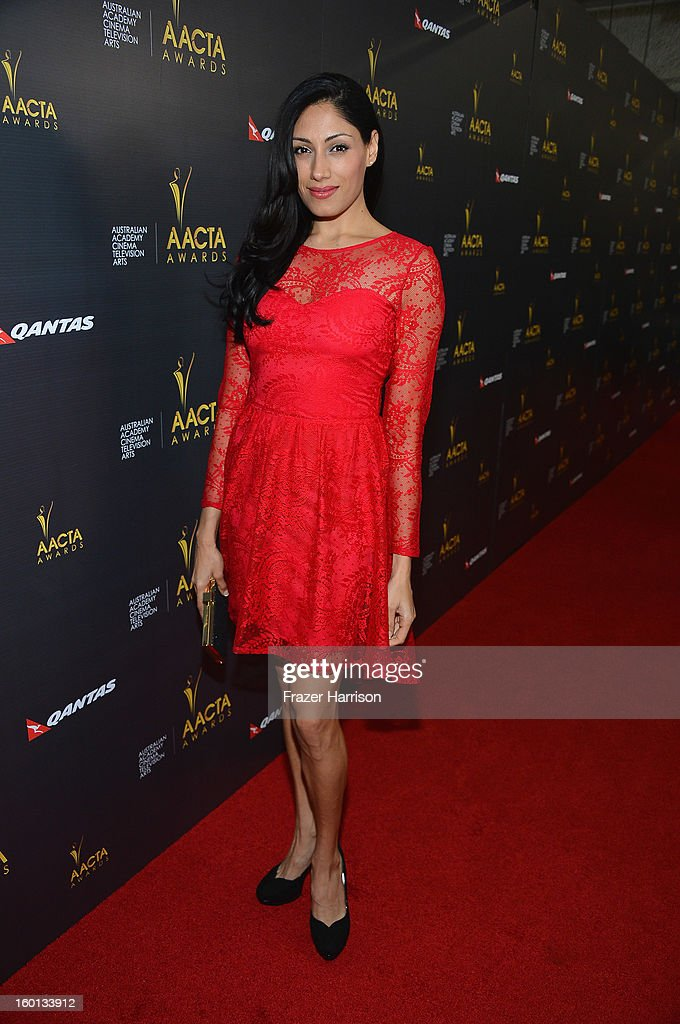 Actress Tehmina Sunny arrives at the Australian Academy Of Cinema And Television Arts' 2nd AACTA International Awards at Soho House on January 26, 2013 in West Hollywood, California.